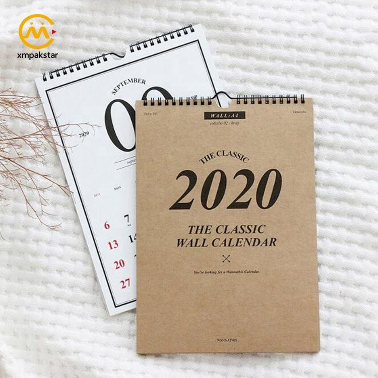 Factory custom 2020 personalize classic monthly paper desktop mini calendar 2021