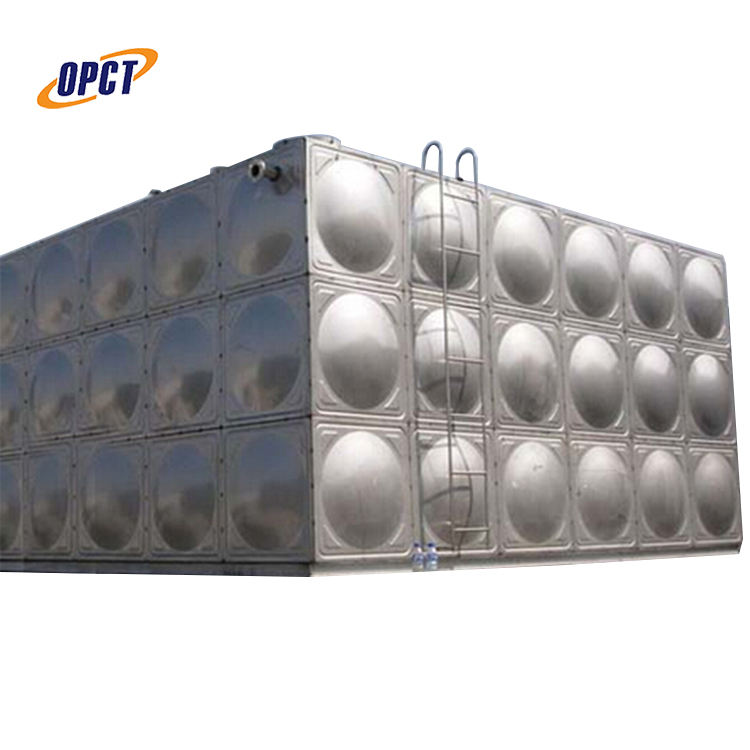 50m3 SS stainless steel square storage water tank
