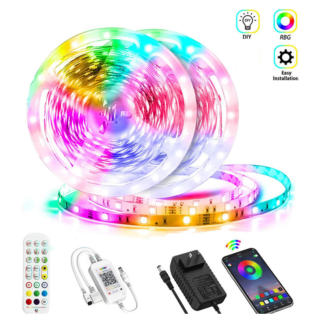 12V SMD 5050 Flexible RGB Smart Controller Light Strips 5M Led Strip Light