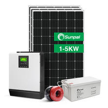 Complete Solar Energy System Home 5KW 3KW 1KW 2KW 4KW Off Grid Hybrid Solar Power Panel System