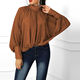 Hotsale euro style fashion New Style Solid Color Feminine Blouse Loose Women Long Sleeve Casual Women Chiffon Blouse And Shirt