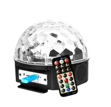 Amazon Explosion 9-color Magic Ball Projection Lamp KTV Flash Sound Control DJ Bungee Colorful Starry Sky LED Stage Light