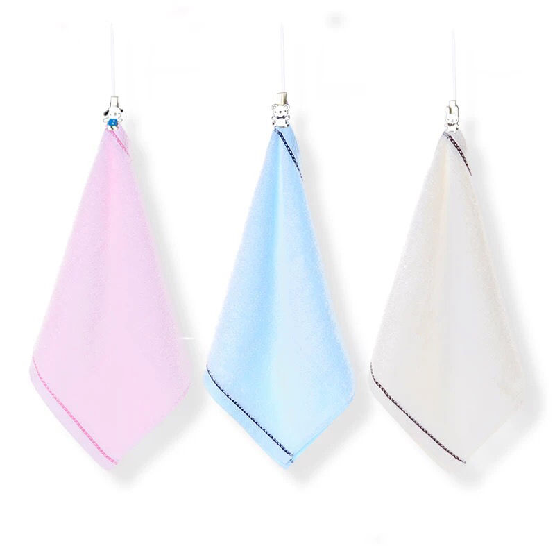Children Baby Towels Bamboo Fiber Drying Cotton Small Square Hair Drying Washing Face Towel