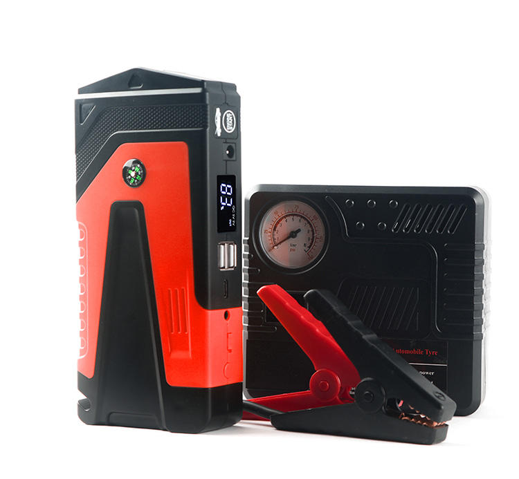 A++ Quality brand new design 18W QC tyre-C input Portable Emergency Car Jump Starter