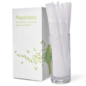 100% Plant Based Straws Compostable Disposable Curved Drinking Straw PLA Biodegradable Straw