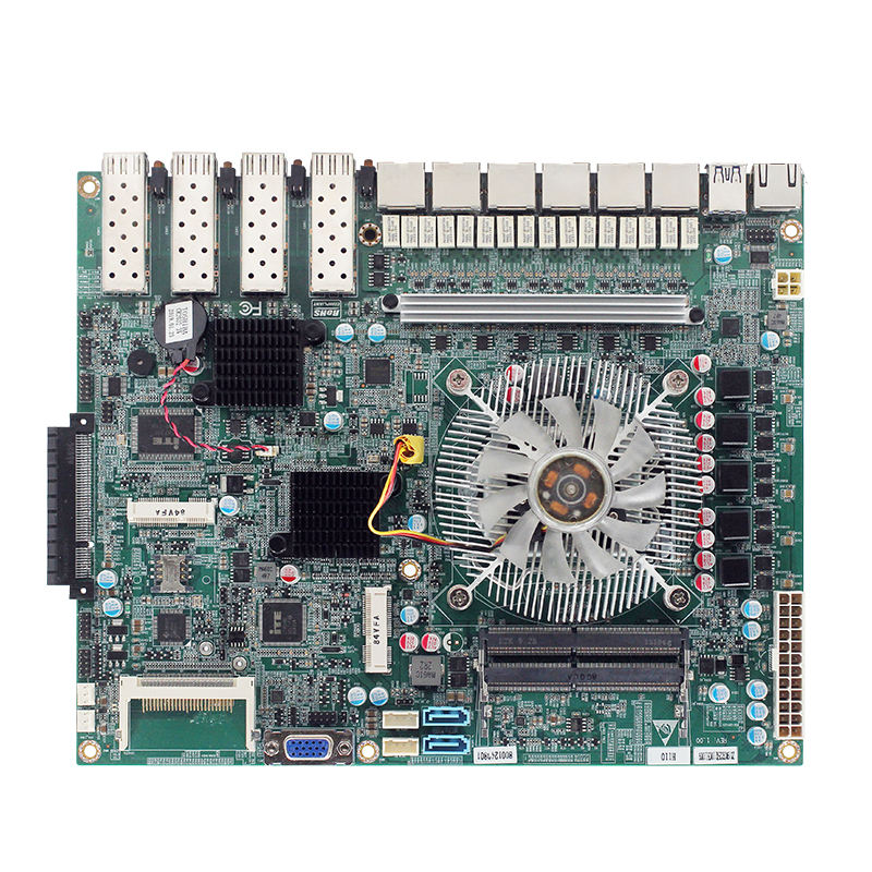 Cina x86 Intel <span class=keywords><strong>core</strong></span> 6th i3 i5 <span class=keywords><strong>i7</strong></span> cpu server di schede madri 4 SFP 6 porte Ethernet scheda madre del server in fibra ottica con Ottica