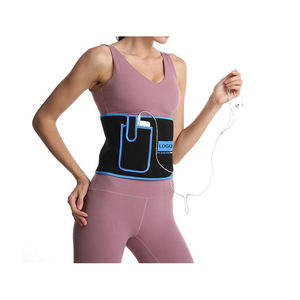 High quality sweat slimming waist trainer customa djustable stomach belt waist trimmer with phone pocket