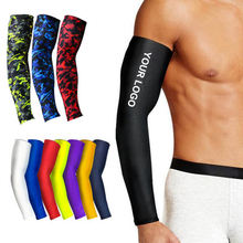 1Pcs Breathable Quick Dry UV Protection Running Arm Sleeves Basketball Elbow Pad Fitness Armguards Sport Cycling Arm Warmers