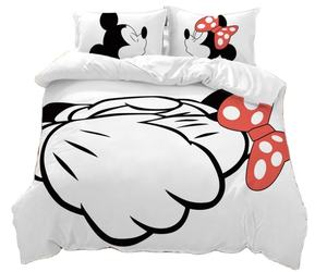 Mickey Mouse Cartoon Gedrukt 100% katoen mickey mouse beddengoed set