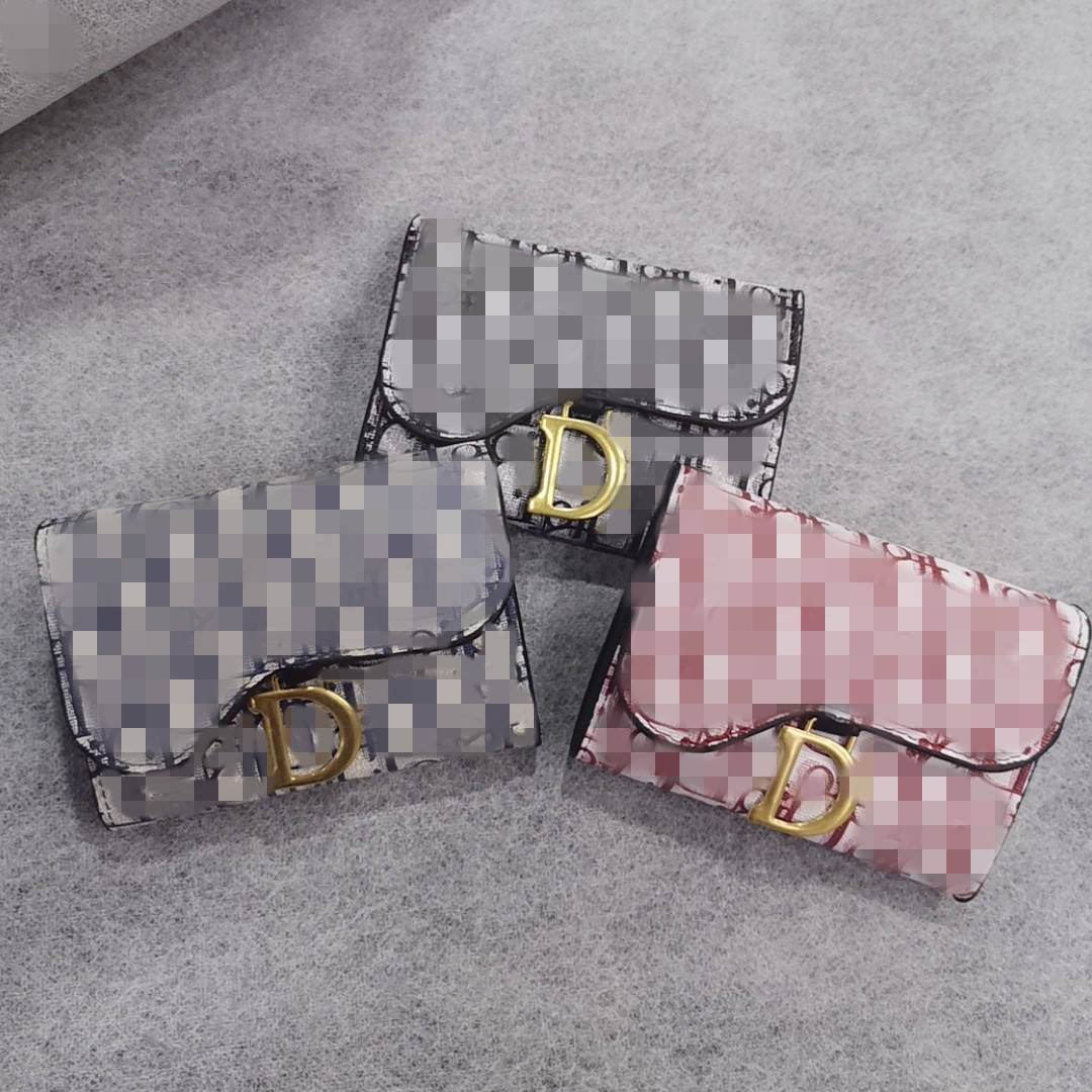 European and American fashionable small wallet short student coin purse female card bag wallets for women