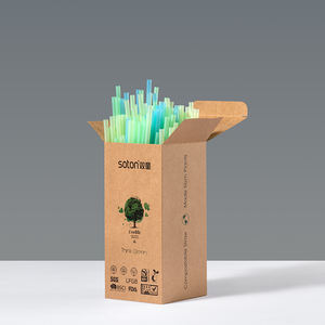 Eco 100% Biodegradable compostables PLA bebiendo de pajitas