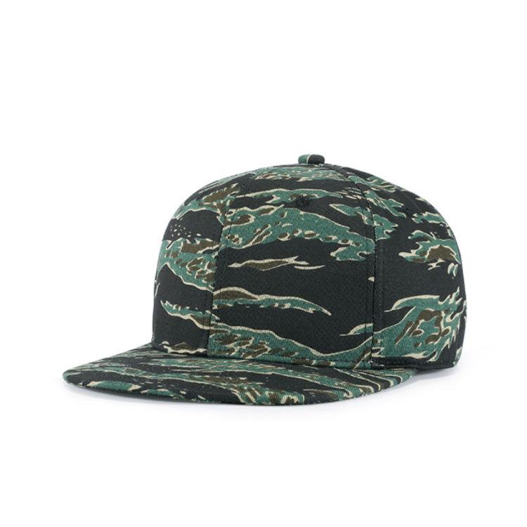 Cotton Twill Camouflage Camo 5 Panel Baseball Hats Caps Hunting Fishing Woodland