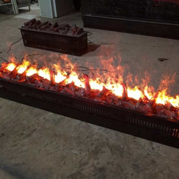 High quality 3D water vapor /steam electric fireplace with wood