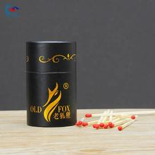 Eco- friendly strong cylinder matches cardboard box with custom print