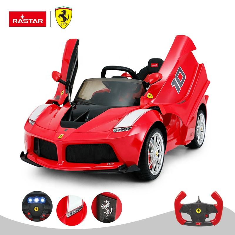 Rastar Ferrari licensed toy cars battery or remote control for kids to drive 12 volt ride on car