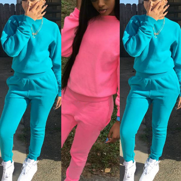 Two piece tracksuit slim fit Women 2 Piece Set Tracksuits sweat suits