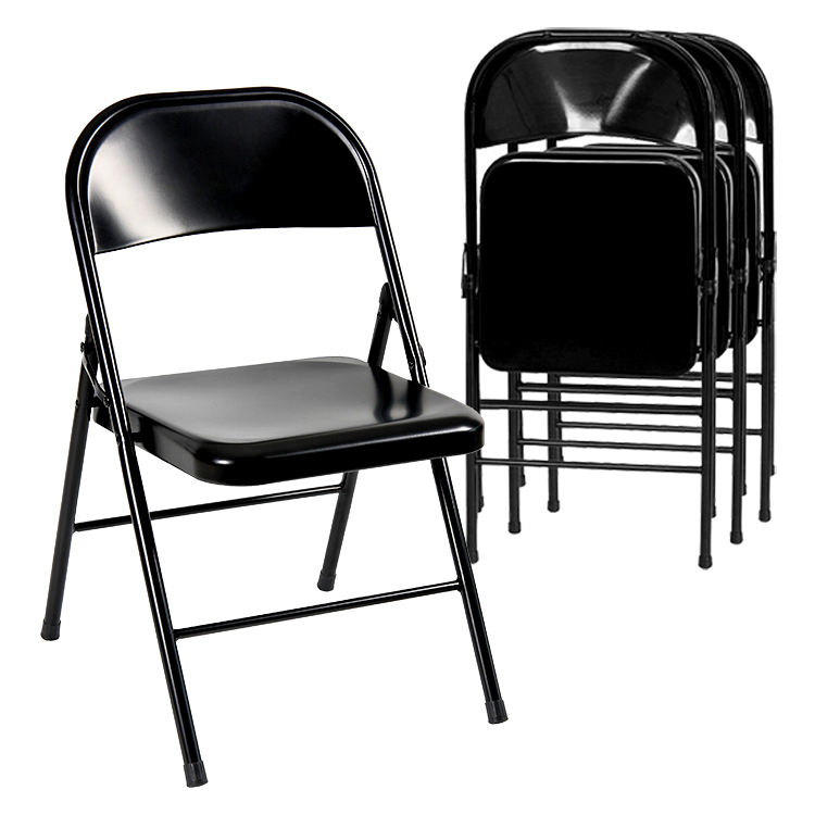 Free sample wholesale commercial stackable metal folding chair for wedding party events