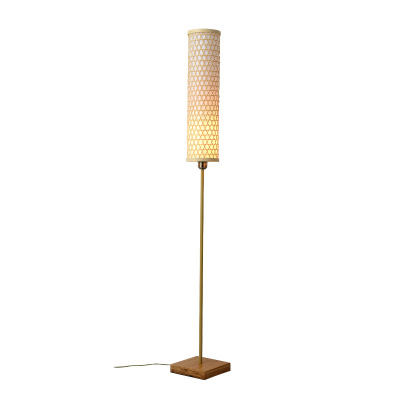 Wholesale Manual Gold Bamboo Standing Lamps Wooden LED Floor Lamp For Home Balcony