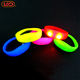Custom glow in the dark led flashing silicone wristband bracelet