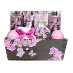 Custom card box package Purple perfume wash bath and body shop spa gift set for women