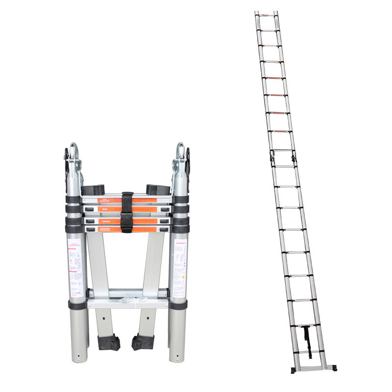 Professional Factory Made hook aluminum telescopic ladder