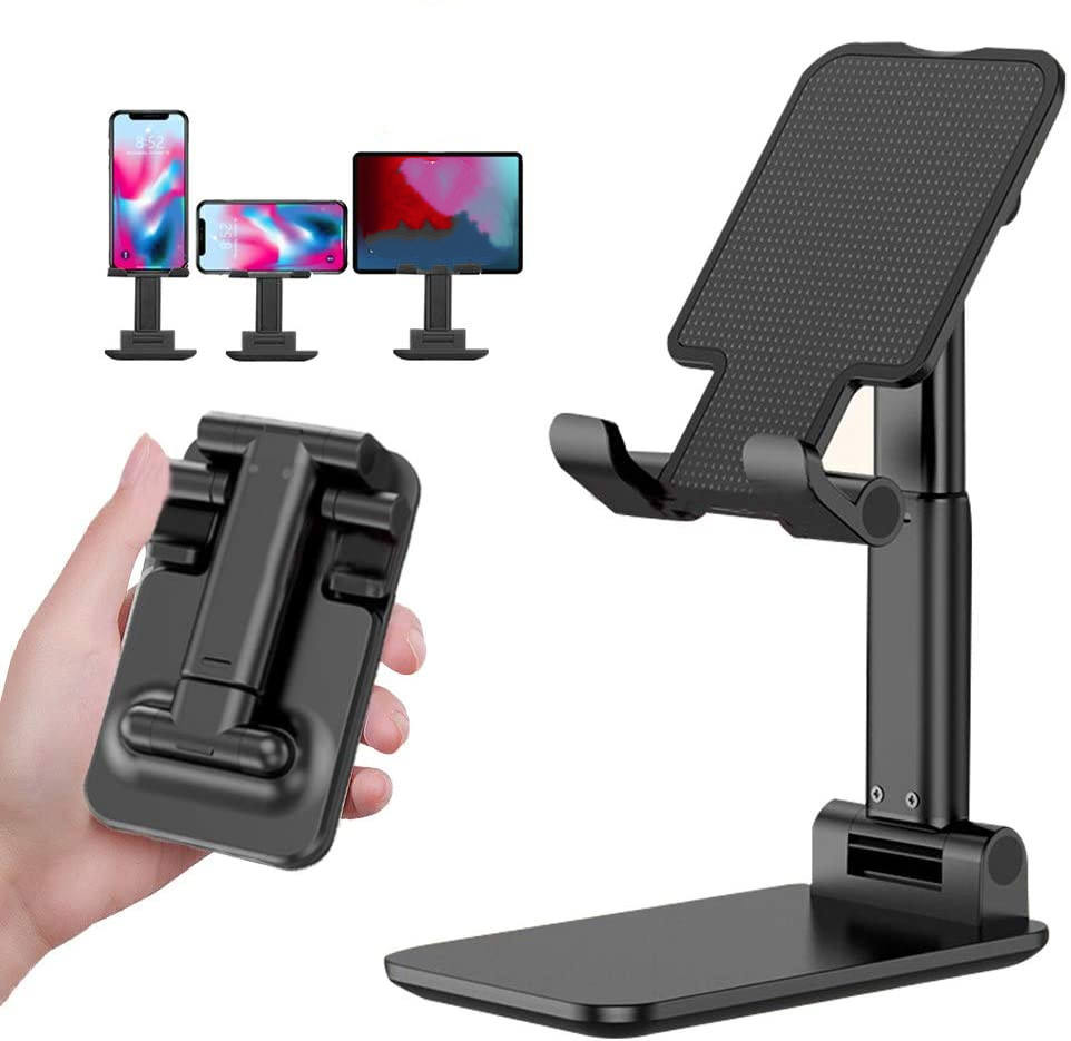 Desk Foldable Smartphone Stand Mini Mobile Phone Holder Multi-Angle Adjustable for All Mobile Phone/iPad/Kindle/Tablet