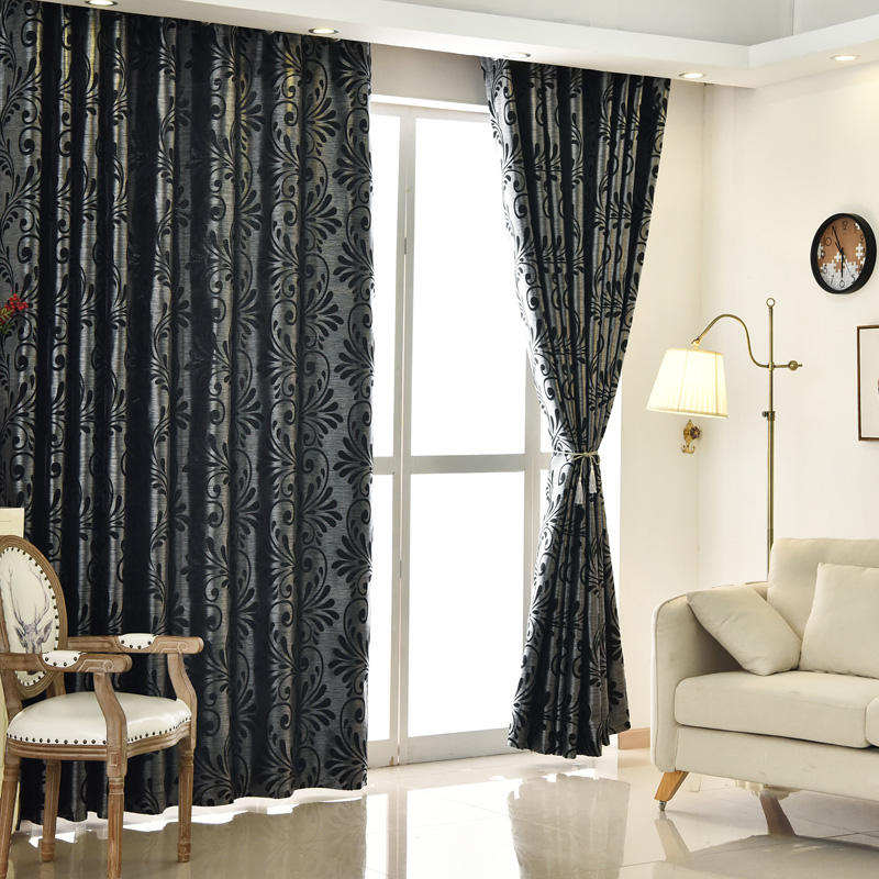New Design Simple Style Living Room Blackout Curtain Window Curtain With Variable Color