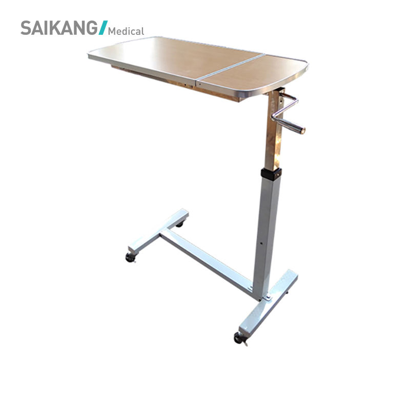 SKH042-3 Cheap Medical Portable Overbed Table