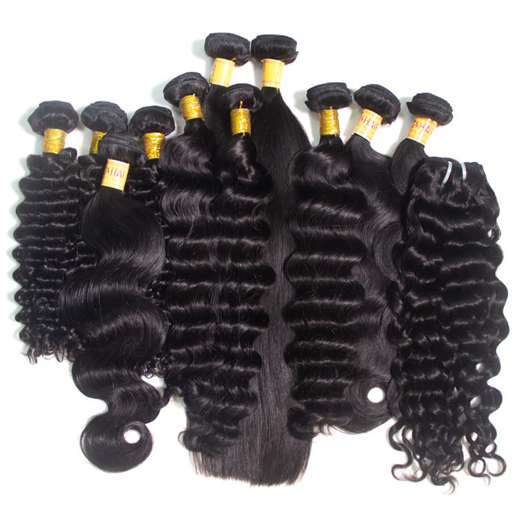 Free Sample Virgin Mink Brazilian Human Hair Weave Bundles , Wholesale Raw Straight Wave Curly Extension Cuticle Aligned Hair