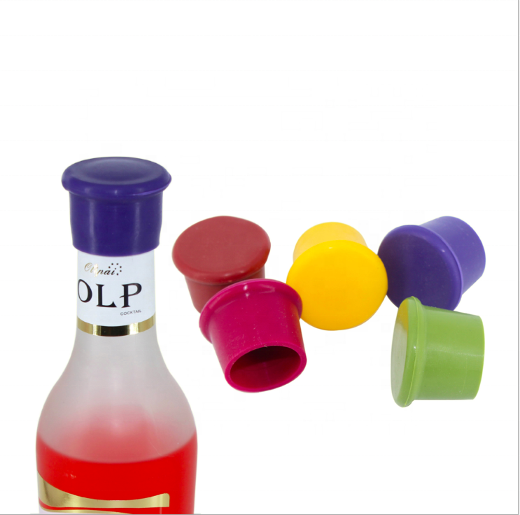 Tulip Shaped Silicone Wine Stopper and Pourer Violet Flower Wine Bottle Stopper