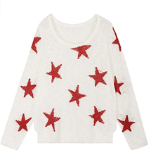 2020 Wholesale High Quality Stars Casual Knitwear Thin Spring Sweater for woman 2020 top sales Plus size