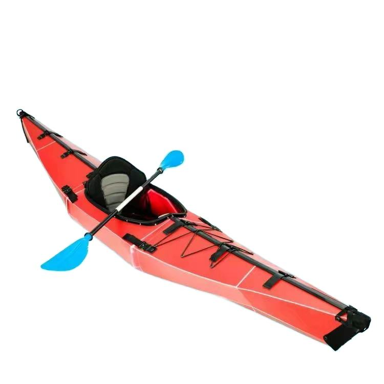 Factory großhandel New Design Cheap Single Folding Foldable Kayak Sit auf Top Fishing meer kanu/Kayaks bord mit Paddle für verkauf