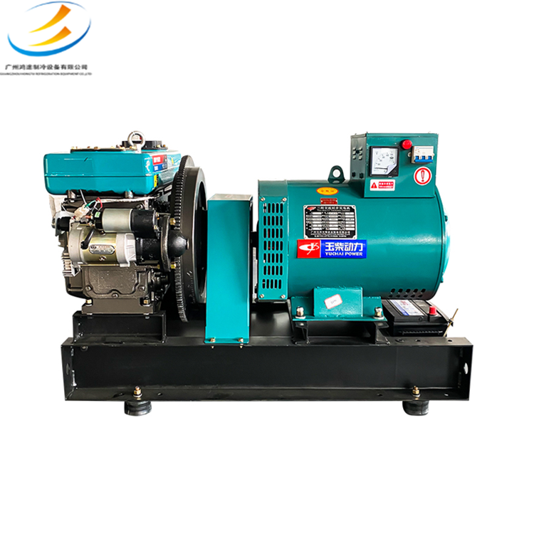 Yuchai power 15/20/24kw30kW diesel generator unit single cylinder water-cooled small 220/380V household
