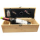 Good 4pcs Accessories Inside Nature Bamboo Wood 750ml Single Bottle Red Wine Gift Box Packaging