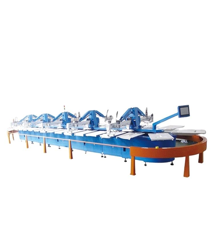 FULL AUTOMATIC OCTOPUS OVAL SCREEN MACHINE FOUR COLOR