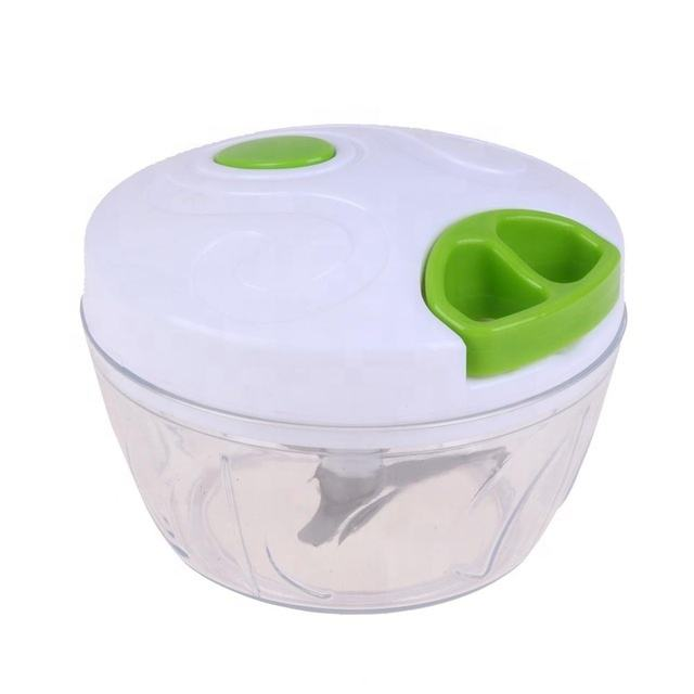 Manual Food Chopper, Compact & Powerful Hand Held Vegetable Chopper Blender to Chop Fruits Vegetables Cutter