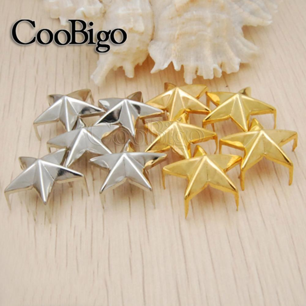5000PCS 21mm 5 claws star Rivets Star shape Rivets Spike Studs Spots Nailhead Punk Rock Leather Craft Clothing Bag Parts
