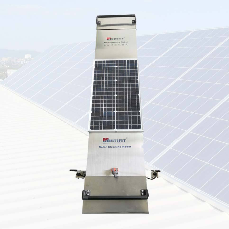 Automatic Solar Panel Cleaning Brush Equipment Vacuum Panel Robot for Length 1950mm Solar Panel