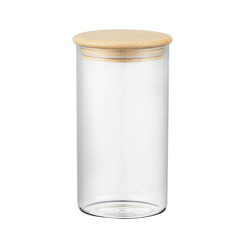 Bamboo [ Jars Lid ] Storage Jar Lid Customize Logo Kitchen Glass Storage Containers Jars With Bamboo Lid