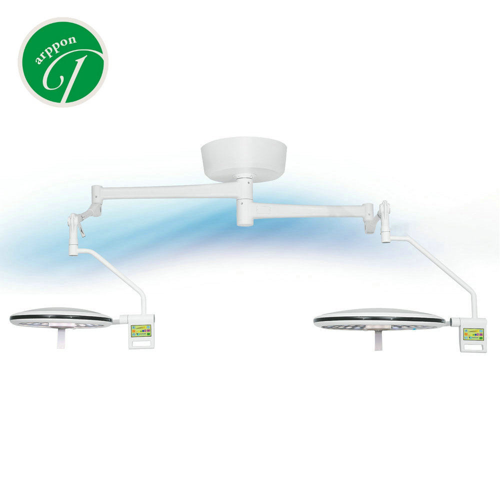 Two arms double head TV surgical LED video shadowless lamp