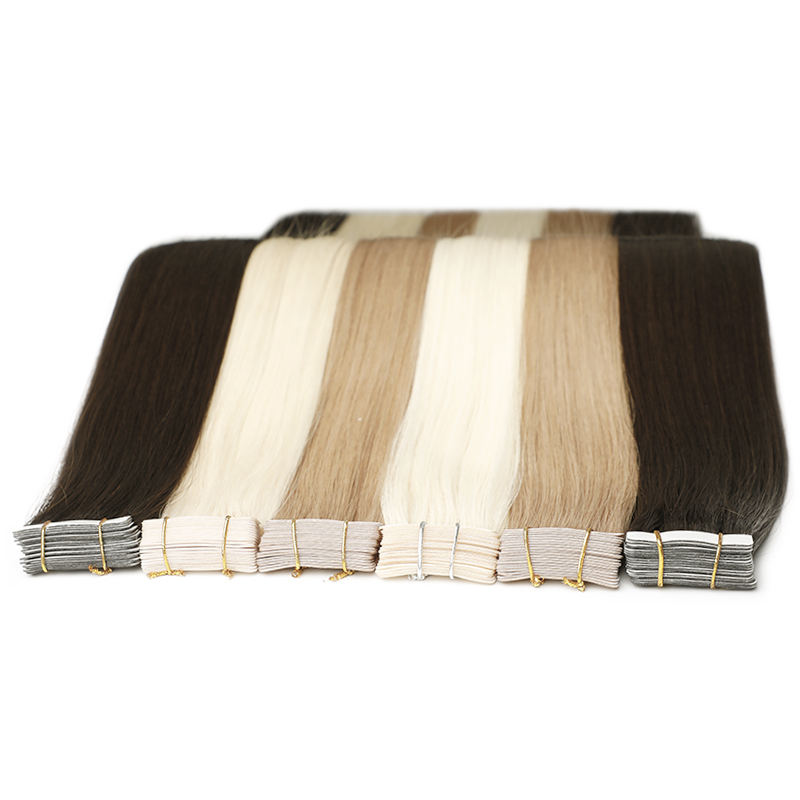 Top Quality Human Hair Double Drawn Remy Tape Hair Extension