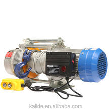 Best quality lifting machine aluminum shell wire rope multi-functional electric hoist winch