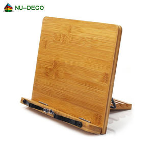 Custom table folding foldable cook reading adjustable wooden bamboo book holder stand / book holder