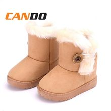 2019 Boy's Girl's Outdoor Boots Cold Weather Kids Snow Boots With Buckle