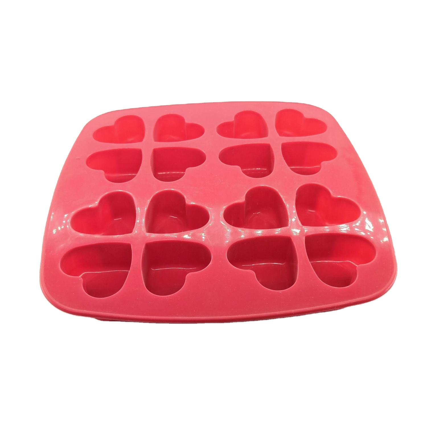 Heart-shaped Silicone Cake Mold Soft Chocolate Mold Ice Cream Mold Cake Mould Silicon Microwave Cake Cup