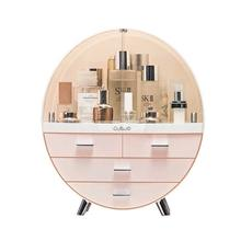Luxury skin care cosmetic storage box dressing table desktop finishing box dust proof waterproof