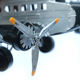Vintage metal art crafts are collectable airplane models