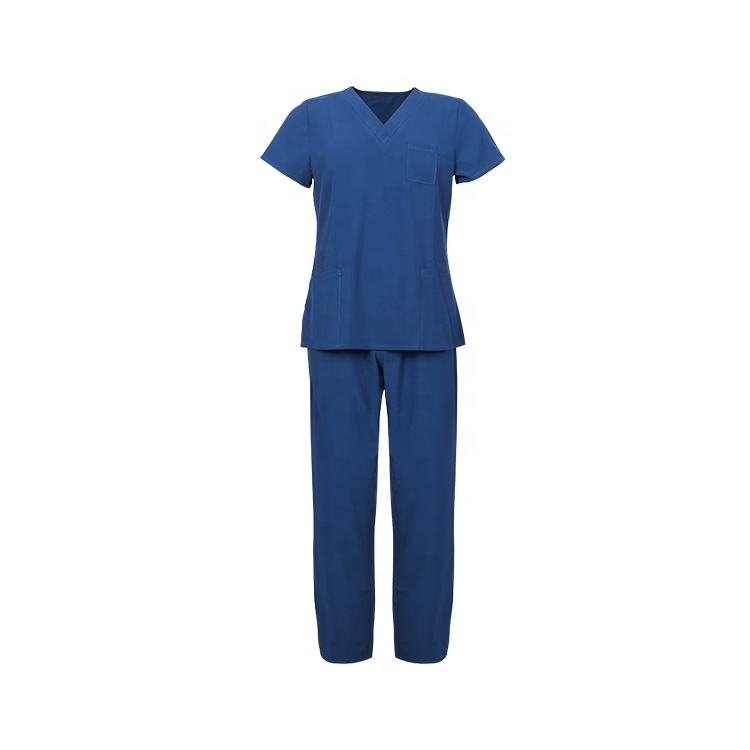 OEM service cheap 4 way stretch custom color hospital medical nursing scrubs suits uniform scrub sets unisex