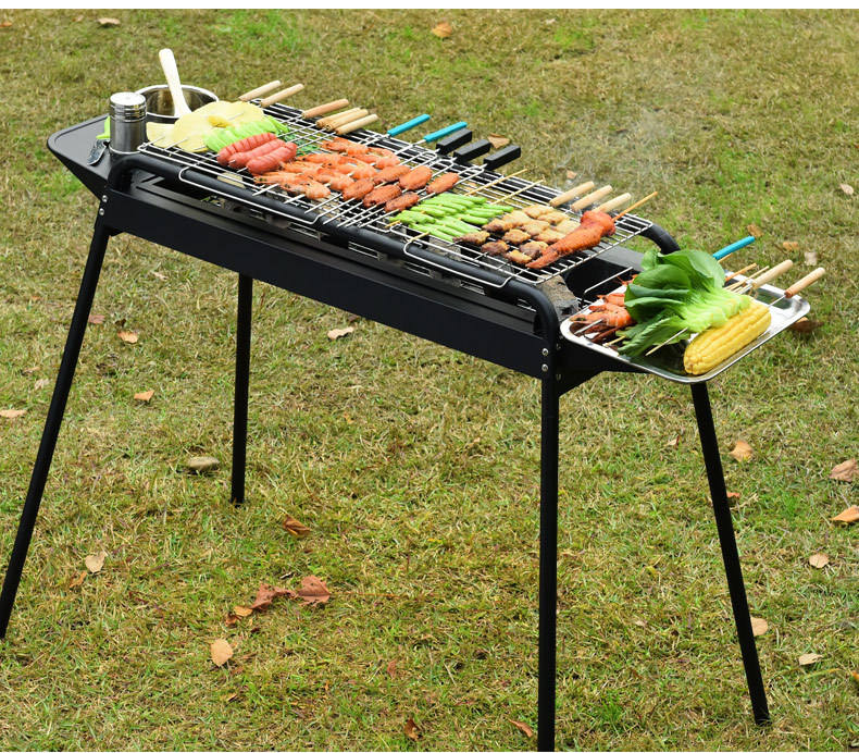 Neue outdoor tragbare gusseisen holzkohle bbq grills