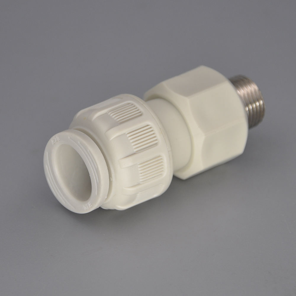 Plastic water pipe fitting Male Straight Coupler 20mmxM1/2""